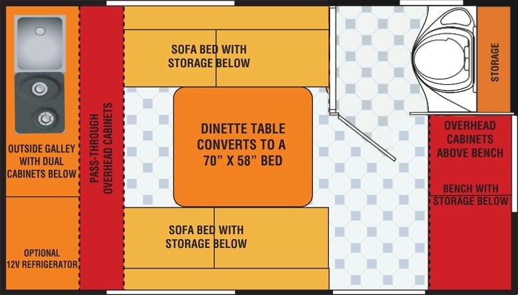 Teardrop Trailer With Bathroom >> Starling Travel » T@B CS Plan with a Bathroom