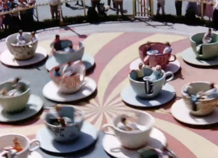 The Teacups in Fantasyland at Disneyland 1956 from Starling Travel