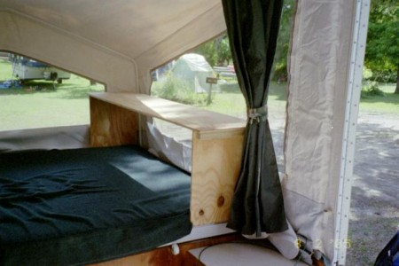 Tent Trailer Bed Storage from Starling Travel