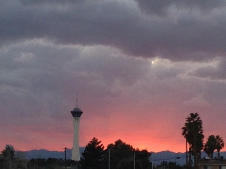 The Stratosphere at Sunset from Starling Travel