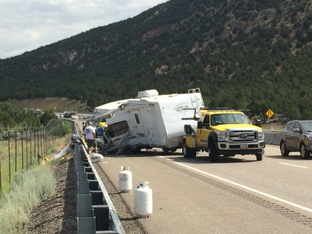 Trailer Flips on I-15 from Starling Travel