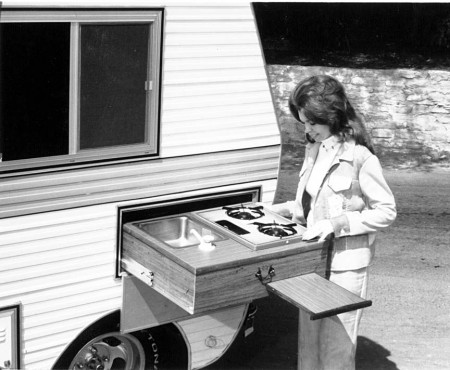 VW Bug MiniHome Camper Outdoor Camp Kitchen Galley