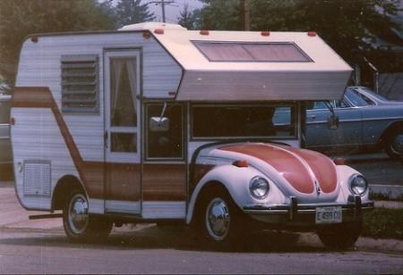 Vw bug with camper