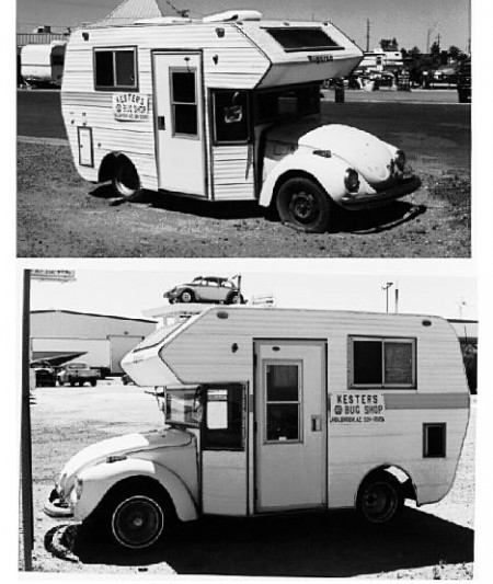 VW Bug MiniHome Camper as an advertisement