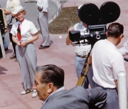 Walt Disney Filming in Disneyland 1956