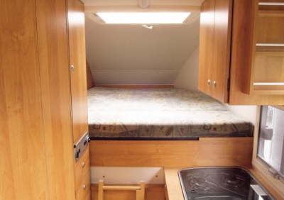 Heku Carcamp bed in the overhead area.