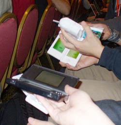 Play Nintendo DS with friends while you wait for your flight.