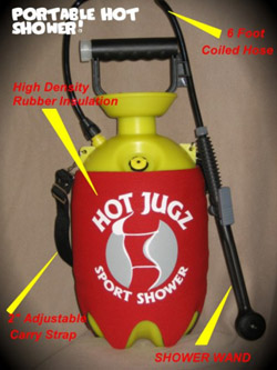 Hot Jugz: Portable Hot Shower